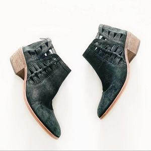 Vince Camuto Peera Suede Cutout Ankle Booties 10.5